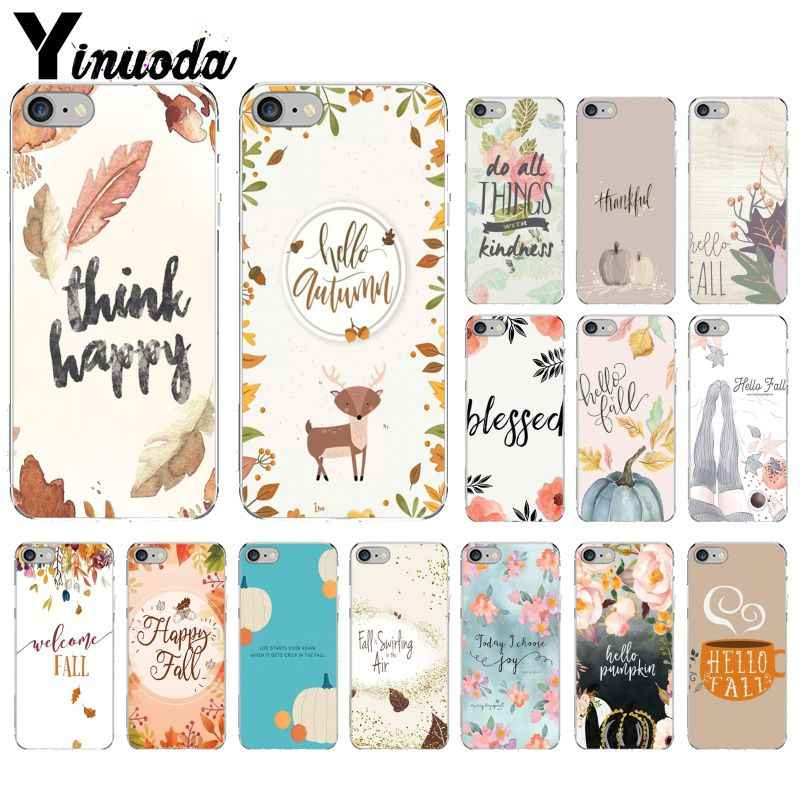 Yinuoda Pumpkin happy fall Soft Silicone TPU Phone Cover for Apple iPhone 8 7 6 6S Plus X XS MAX 5 5S SE XR Mobile Cover