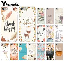 Yinuoda Pumpkin happy fall Soft Silicone TPU Phone Cover for Apple iPhone 8 7 6 6S Plus X XS MAX 5 5S SE XR Mobile Cover yinuoda animals dogs dachshund soft tpu phone case for apple iphone 8 7 6 6s plus x xs max 5 5s se xr mobile cover