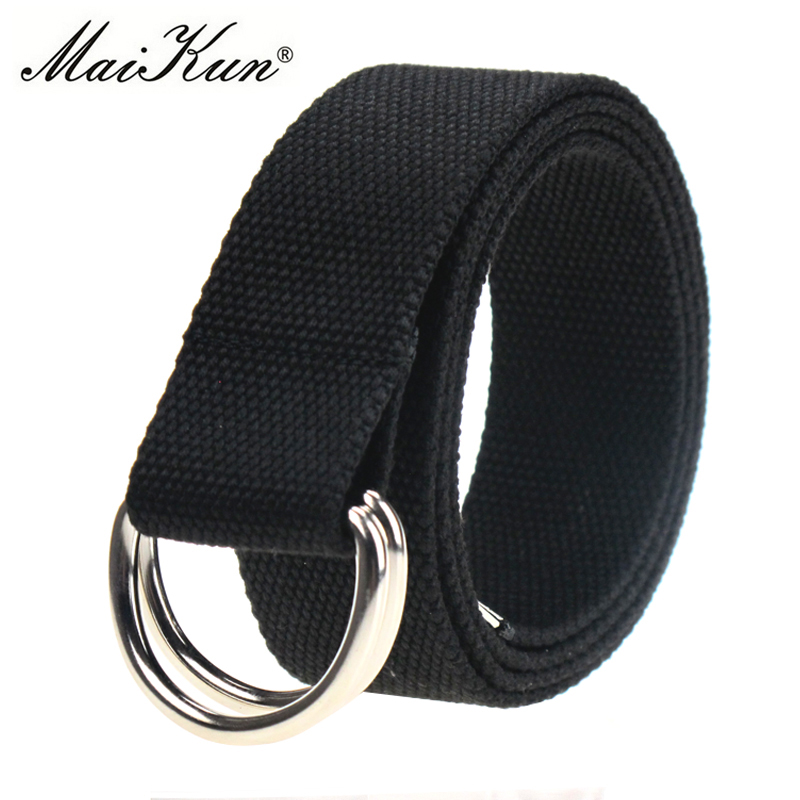 MaiKun Canvas Belter för kvinnor Tactical Men Belt Metal Buckle Designer Belts Unisex