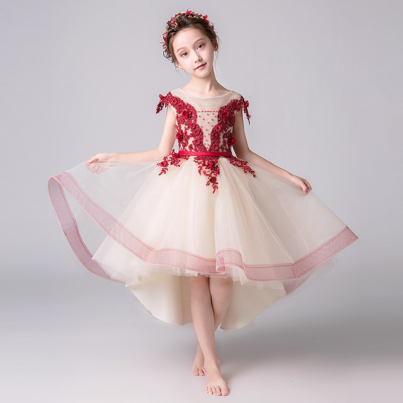 New Summer Flower Girl Princess Dress Bead Floral Pageant Tutu Dress Kids Party Wedding Ball Gown Formal First Communion DressNew Summer Flower Girl Princess Dress Bead Floral Pageant Tutu Dress Kids Party Wedding Ball Gown Formal First Communion Dress