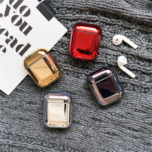 Hard Plastic Case for Airpods Colorful Waterproof Bluetooth Wireless Earphone For AirPods Protective Cover Skin Bumper