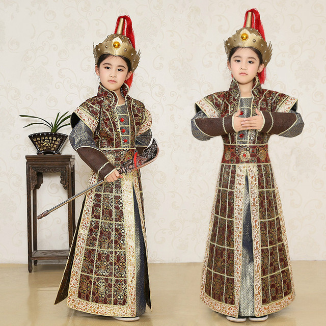 New Children Soldiers Costume Chinese Traditional Costume