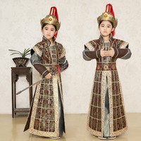 New Children Soldiers Costume Chinese Traditional Costume Kids Male Armor Clothes Chinese Stage Performance General Clothes 89