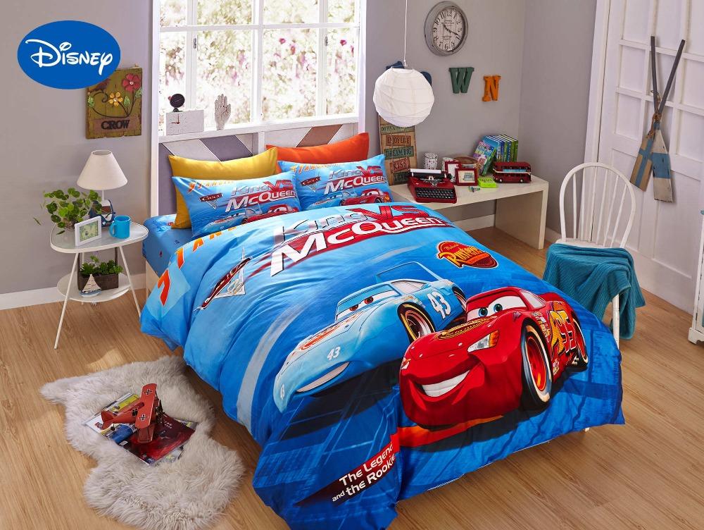 azul de dibujos animados de disney rayo mcqueen impreso juegos de cama para nios nios decoracin
