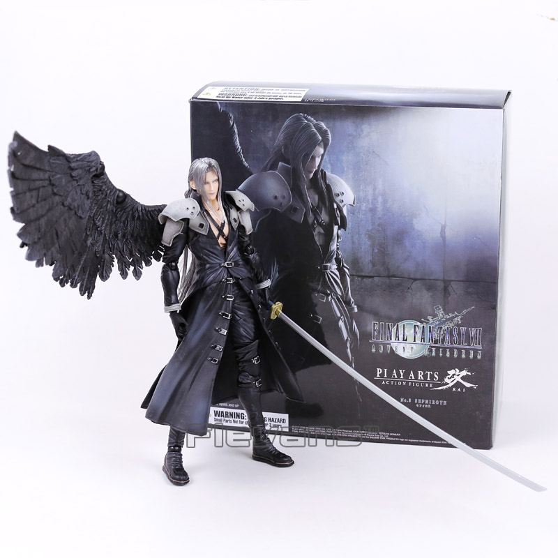 Paly Arts Kai Final Fantasy VII 7 Sephiroth PVC Action Figure Collectible Model Toy 27cm play arts kai street fighter iv 4 gouki akuma pvc action figure collectible model toy 24 cm kt3503