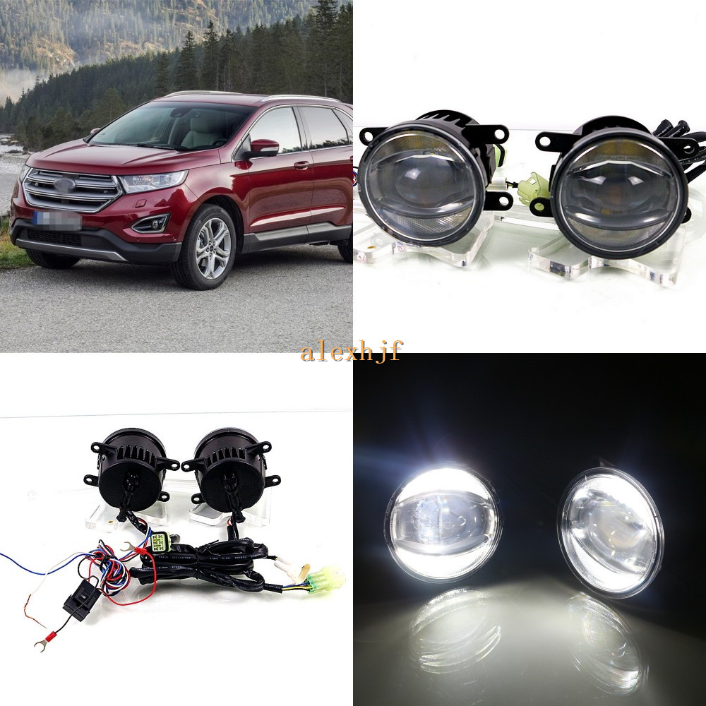 July King 1600LM 24W 6000K LED Light Guide Q5 Lens Fog Lamp +1000LM 14W Day Running Lights DRL Case for Ford Ford Edge 2015-ON july king 1600lm 24w 6000k led light guide q5 lens fog lamp 1000lm 14w day running lights drl case for ford focus ii iii 06 14