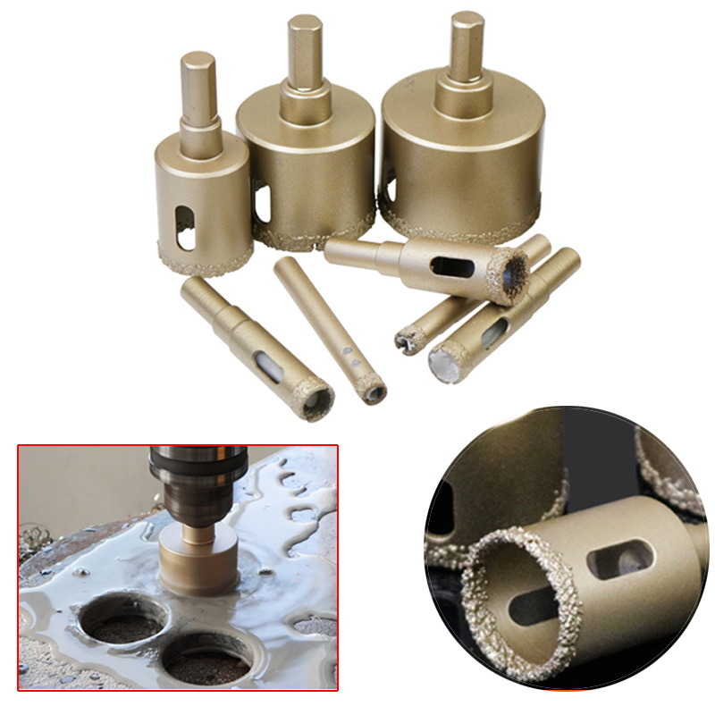 1 Pcs 6-12mm Diamond Vacuum Core Hole Saw Cutter Woodworking Metal Drilling Tools For Tiles Marble Glass Granite Drilling
