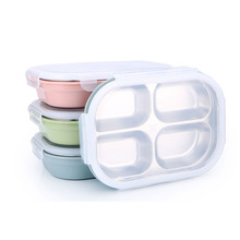 3/4/5 Grids Lunch Box Stainless Steel Food Container for Kid School Office Dinnerware Storage Bento