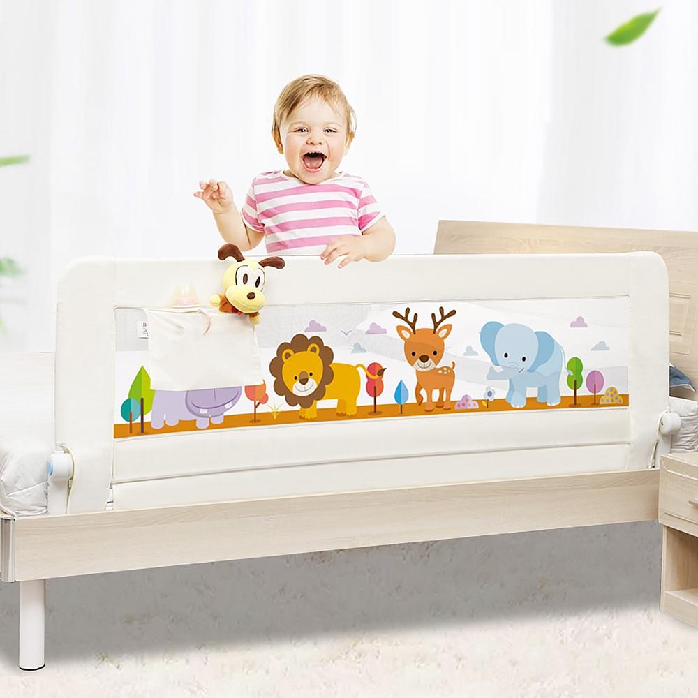 Детская кровать железнодорожных детская кровать ограждения безопасности с карманом детские Манеж дети общей безопасности Применение детс...