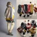 2016 BOBO CHOSES chapéu cachecol Outono Inverno Crianças Pequenas de Algodão Moda lenço feito malha chapéu do bebê Para Meninos Meninas Outono Malha lenço no pescoço