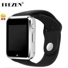 FREZEN Tarjeta Sim Bluetooth Reloj Inteligente Reloj MTK6261D G10D Deporte Podómetro Smartwatch Para Android Smartphone PK GT08 DZ09