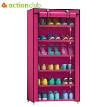 Actionclub, armario de zapatos grueso no tejido a prueba de polvo de siete capas, armario creativo de combinación DIY, estante de almacenamiento para zapatos