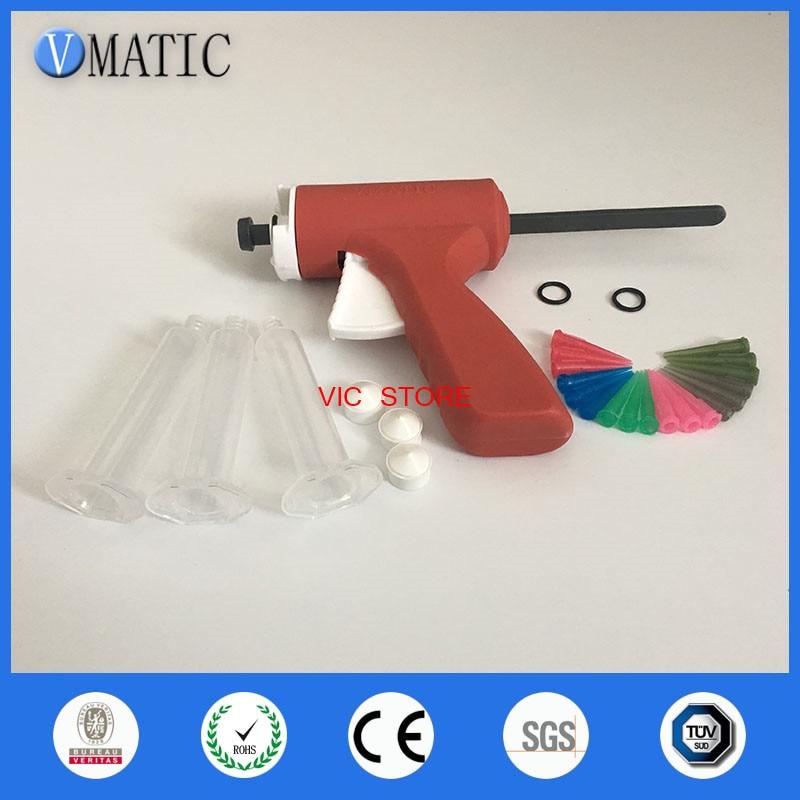 10ML manual syringe gun/ Epoxy Caulking Adhesive Gun single liquid glue gun/dispense gun with full parts 100x 10ml syringe of 44