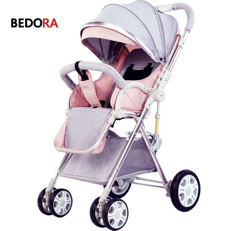 Bedora Two-way stroller High landscape Can sit and lie down simple fold Ultralight portable child Baby carriage baby stroller foofoo baby stroller high landscape can be sitting can belying babystrollers folded two way portable baby carriage