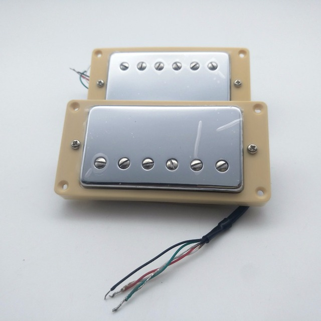 US $25 2 10% OFF|high quality Guitar Pickups Alnico Steel magnetic Pickups  LP 59 4C Electric Guitar Humbucker Pickups With Push pull Function-in