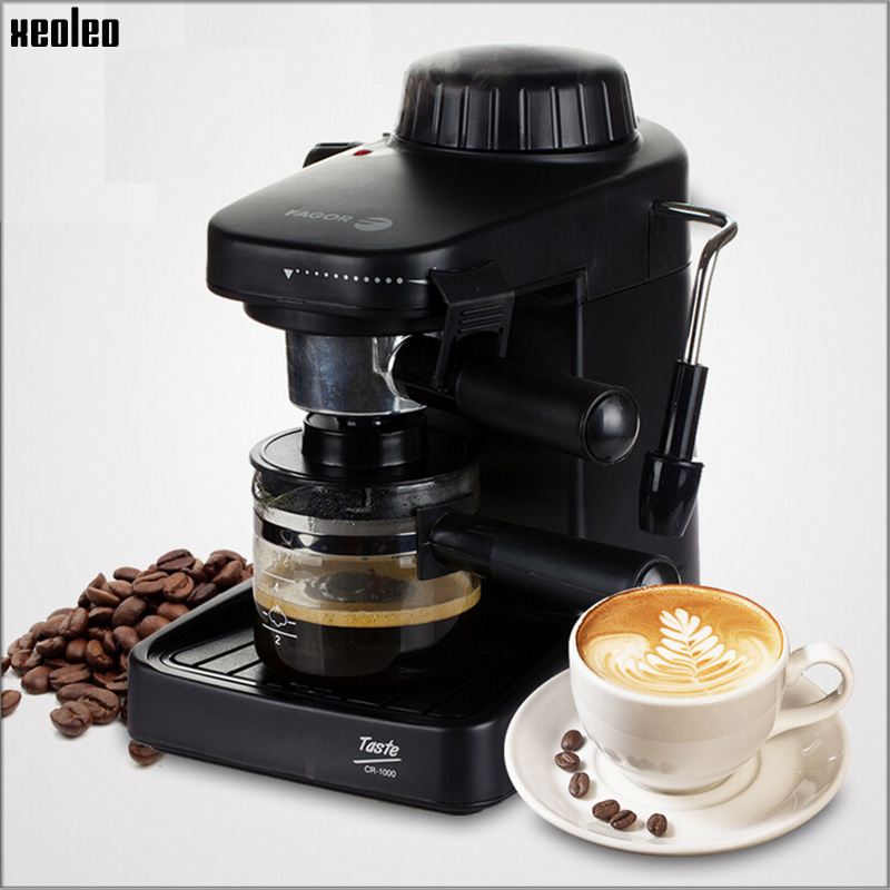 Xeoleo Automatic Espresso Coffee maker 4 Cup Coffee font b machine b font High pressure Steam