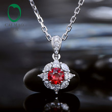 Caimao 0.37ct Natural Red Ruby Marquise Pear Diamonds 14kt White Gold  Exquisite Pendant for Women 735a2d64f242