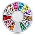 1 pcs Água Nail Art Decoração Pedrinhas Roda DIY Prego 3d Glitter Prego Charme Contas de Pedras Preciosas Jóias Acessórios Manicure
