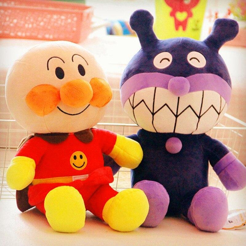 18cm/36cm Japan Anime Plush Doll Bread Superman Plush Toys Children Doll Anpanman Bacteria Doll Ragdoll Birthday Gift