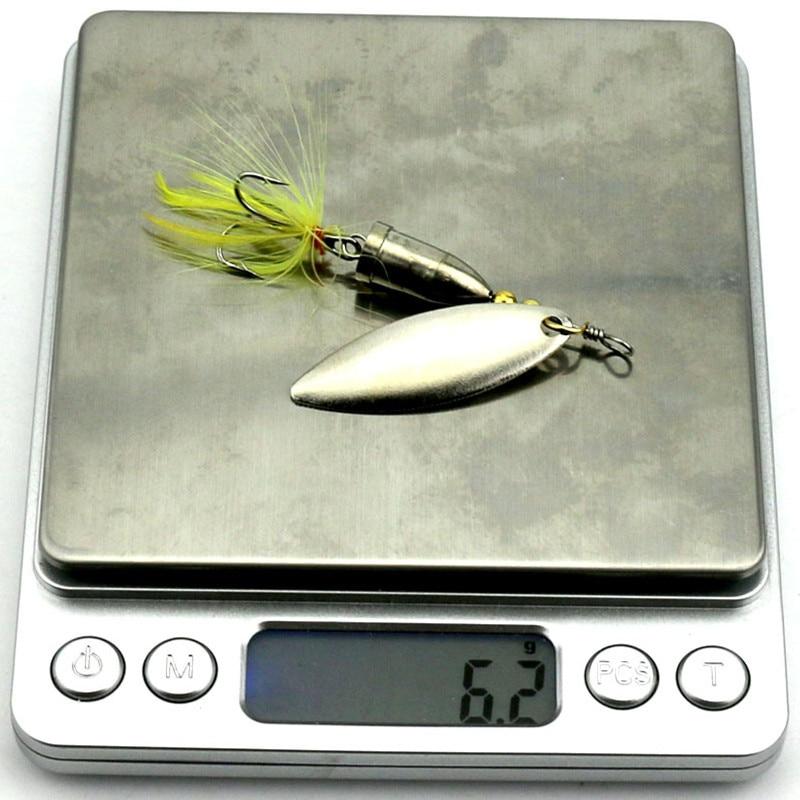 KKWEZVA 5vnt. 6g Nemokamas pristatymo šaukštas žūklės veislės - Žvejyba - Nuotrauka 6
