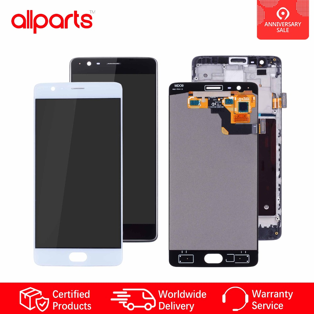 AMOLED Дисплейдля OnePlus 3 A3000 a3003 LCD всборестачскриномОригинал 5.5'' Черный и белый