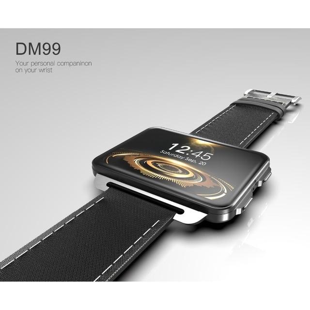 עדכון של DM98 DM99 3G רשת smartwatch אנדרואיד 5.1 OS 1GB RAM 16GB ROM 2.2 אינץ IPS מסך GPS מובנה wifi BT4.0