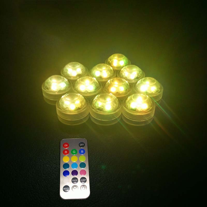 10pcs / Lot Super Bright 3LED Submersible LED Floralyte Light kalis - Pencahayaan perayaan - Foto 4