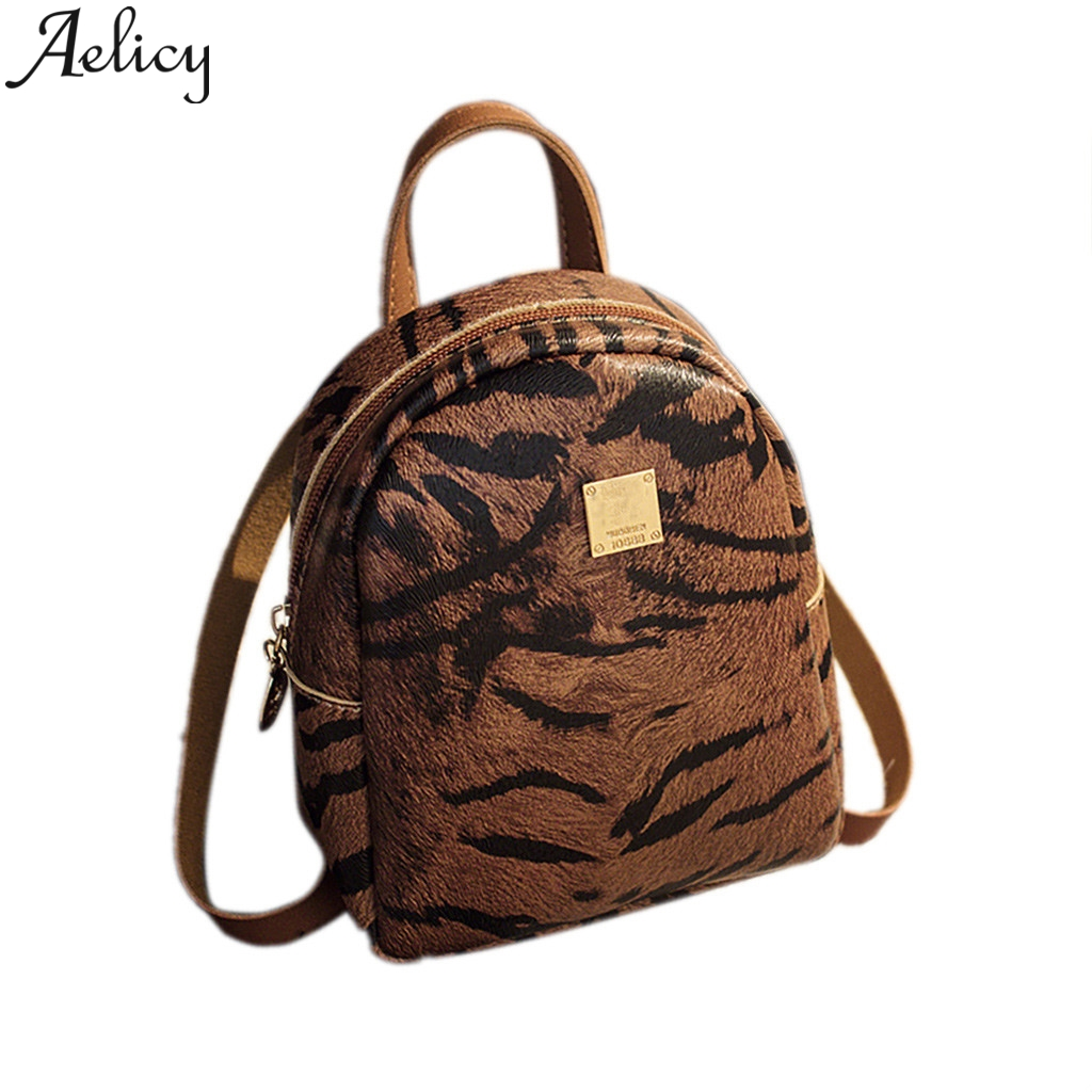 Aelicy Female Backpack Cute Tiger Leopard Small Backpack Bag For Teenage Girls Fashion Bag 2019 Mini Backpacks For GirlsAelicy Female Backpack Cute Tiger Leopard Small Backpack Bag For Teenage Girls Fashion Bag 2019 Mini Backpacks For Girls