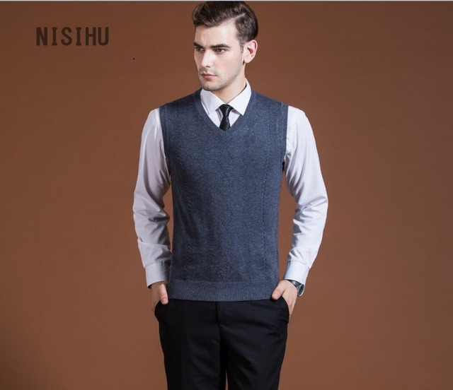 Free shipping mens sleeveless cashmere sweater hot sale man's ...