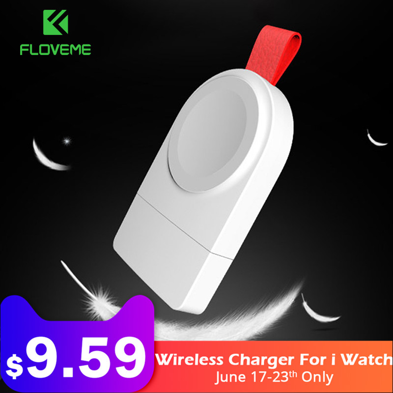Floveme Wireless Charger For Apple i Watch Series 2 3 Watch Charging Cable 2mm Wireless Charger For i Watch 1 2 3 4 Dock Adapter(China)
