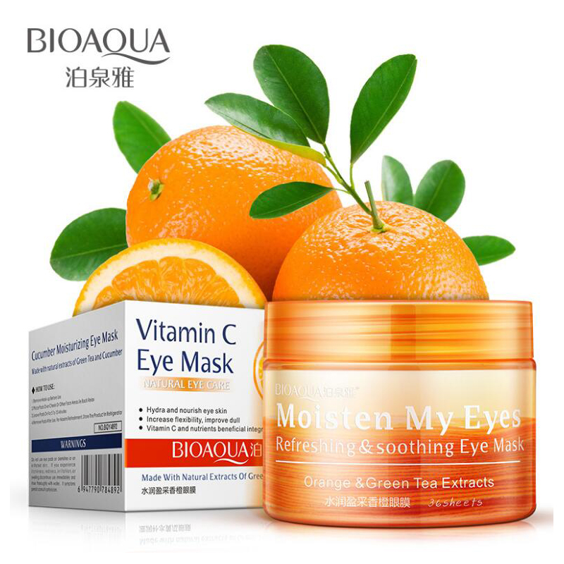 36 Pcs/bottle BIOAQUA Orange Moisturizing Eye Mask Refreshing Soothing Nourish Moisturizing Gentle Skin Care Women