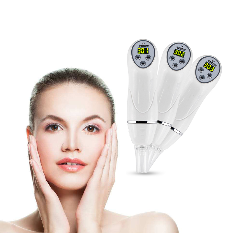 7 Tip Diamond Microdermabrasion Facial Acne Blackhead Massager Removal Pore  Peeling Vacuum Suction Blackhead Skin Beauty Machine