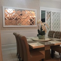Luxury Beveled Mirror tiles decoration,glass art mirror,mosaic