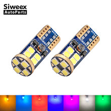 2 Pcs W5W T10 12 SMD 3030 Super Bright Car Led Bulbs Signal License Plate Lamps 194 168 Interior Lights Canbus No Error 7 Colors