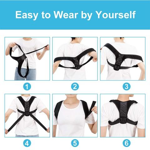 Adjustable Medical Men/women Back Posture Corrector Clavicle Spine Back Shoulder Lumbar Brace Support Belt Posture Correction 32 Karachi