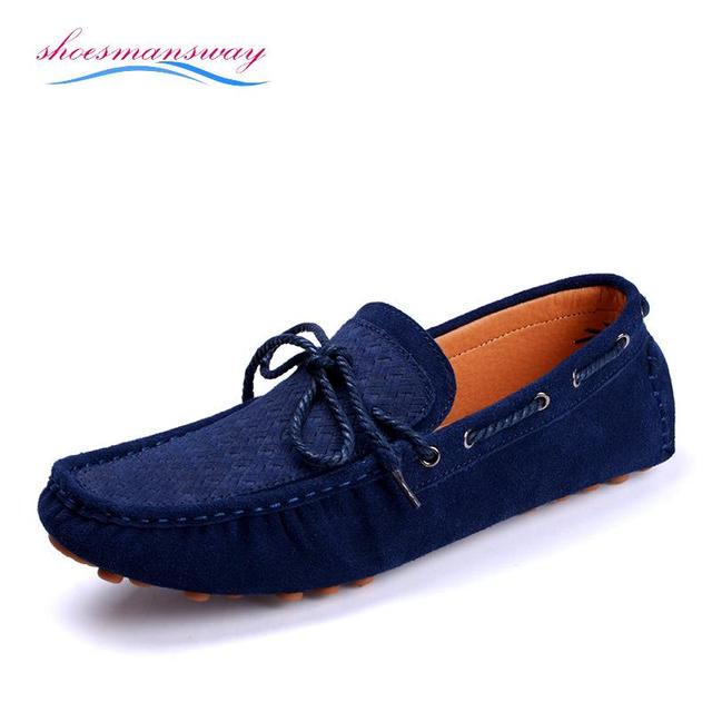 ca3ce0d3f6e Designer Leather Loafers Men Fashion Casual Suede Loafers Buy Shoes Online  Driving Shoe Flats Blue Brown Orange Size 38 To 43