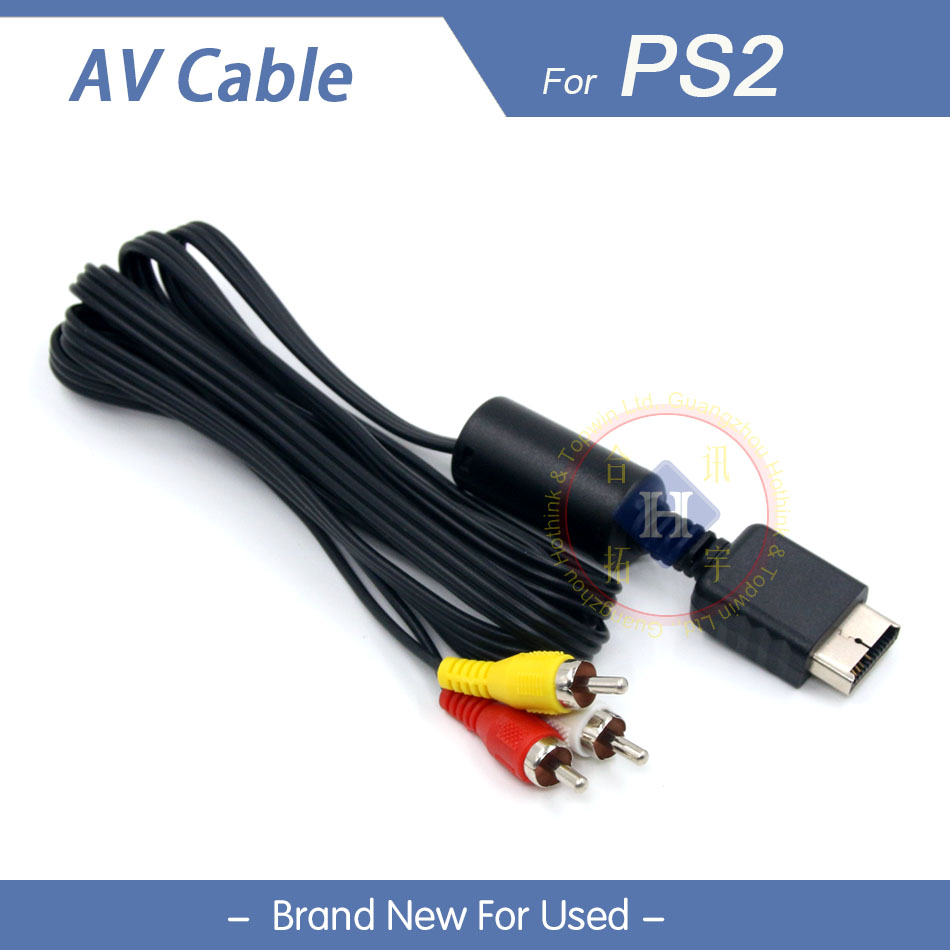New AV Audio Video cable for Sony Playstation 2 3 PS2 / PS3 consoles 1.8M/5FT