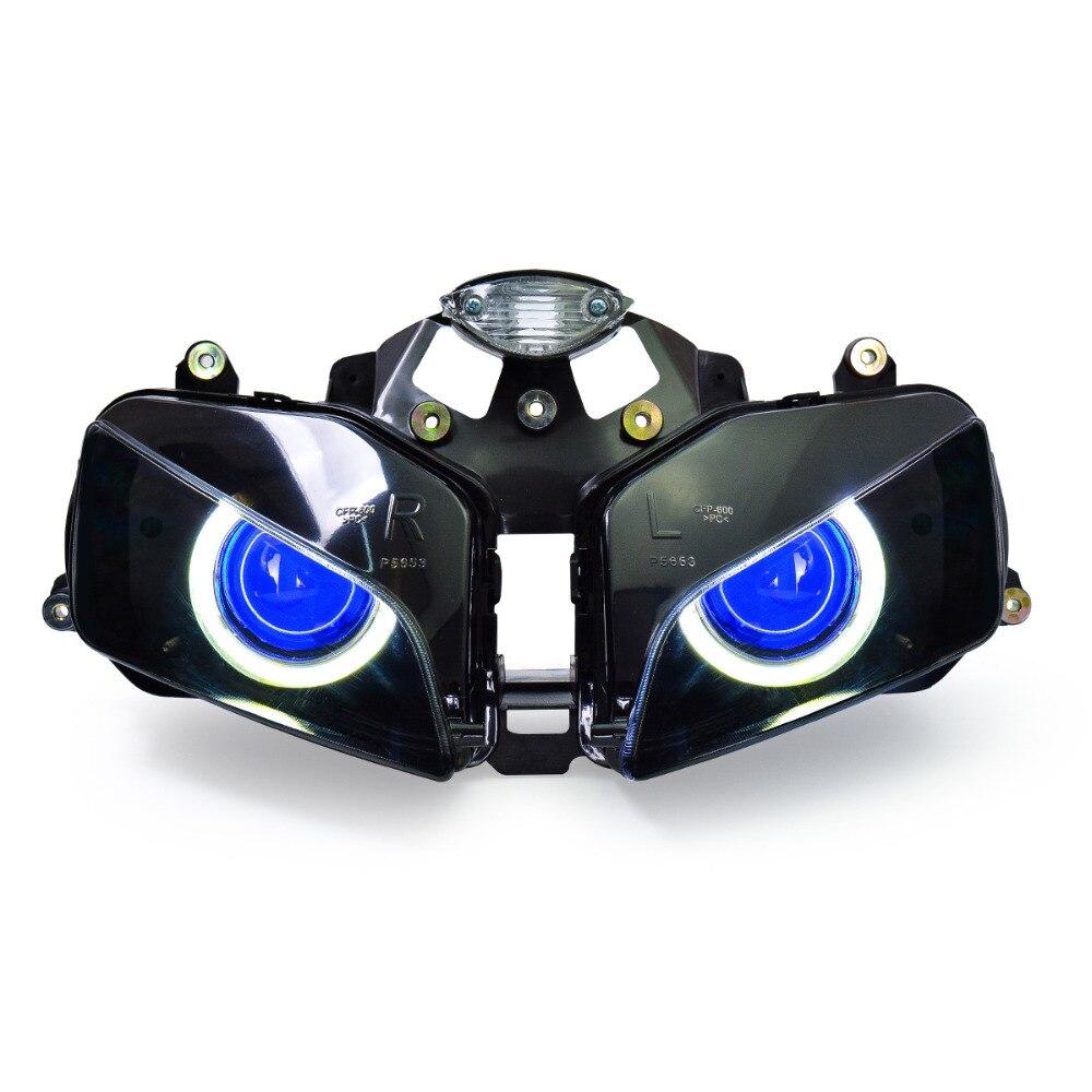 Kt Headlight For Honda Cbr600Rr 2003 2006 Led Angel Eye-6300
