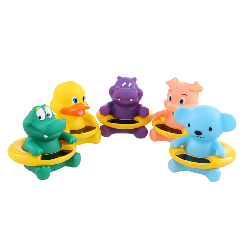 Cute Baby Bath Toy Cartoon Animal Duck Bath Tub Infant Baby Water Temperature Tester Thermomer duck animal series many chew toy page 7