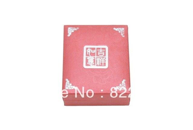 Wishful auspicious red pendant ring boxset box necklace bracelet earrings leather jewelry box packaging Custom LOGO