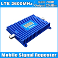 De alta Ganancia 70dB 2600 mhz 4G LTE Pantalla LCD de Alimentación (FDD Band 7) Amplificador de Señal de Teléfono Celular repetidor amplificador 1000 cuadrados de cobertura