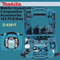 Оригинальный Японии Makita D 53017 бытовые ручные инструменты комплекты ручная дрель сверла Комплект Аксессуары Комбинации Toolbox 103 шт./компл.