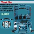Original japão d-53017 makita ferramentas manuais domésticos conjuntos de broca de mão broca bits kit acessórios combinação toolbox 103 pçs/set