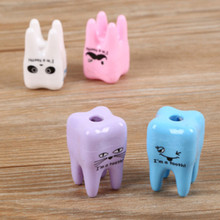 Free ship 20pcs Lovely Cute Tooth Pencil Sharpener School Kids children Favorite Beautiful stationary dental clinic gift