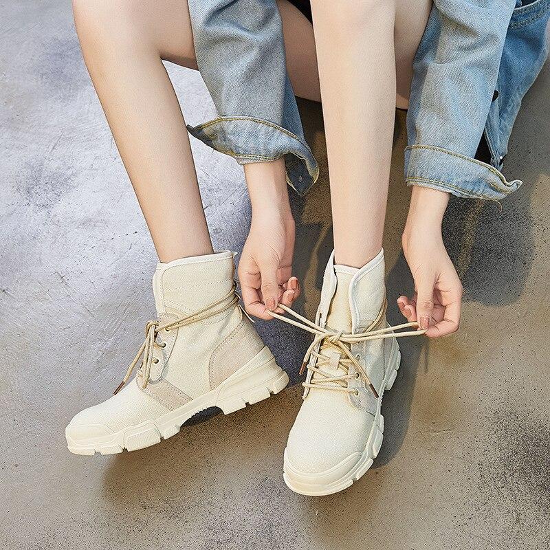 2018 automne hiver femmes bottes chaussures de loisir à la mode dame Martin bottes Style européen de haute qualité Denim moto bottes