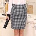 New Fashion Knee-Length Plaid Skirt Women's Spring And Autumn Slim Hip Straight Bust Skirt Female
