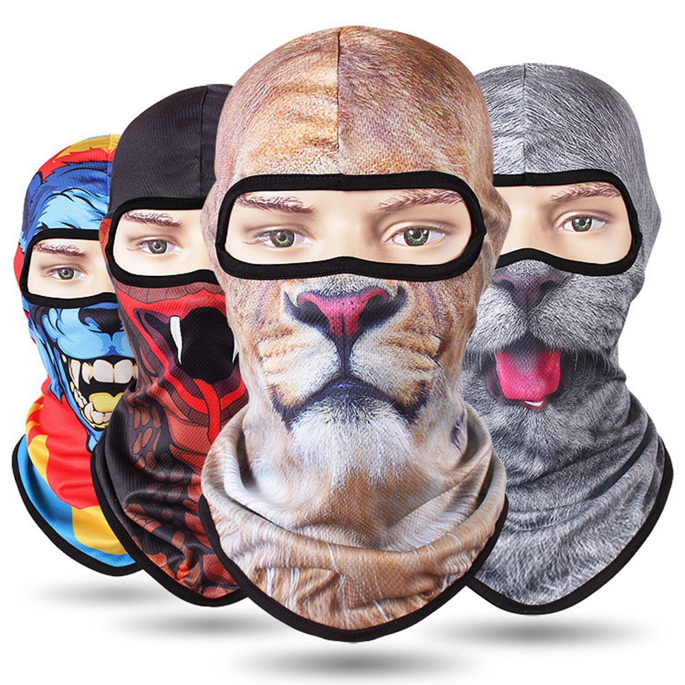 New 3D Animal Outdoor Bicycle Cycling Ski Hat Balaclava Full Face Mask Cat Dog