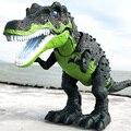 Juguete de gran tamaño de dinosaurio con sonido de la luz Tyrannosaurus Rex juguetes de los niños 1 piezas de juguete eléctrico