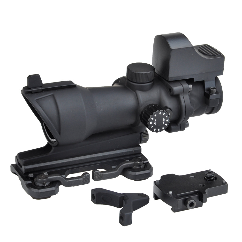 WIPSON aim  ACOG 4*32 Scope Red Green optical sight Reticle with QD Mount Mini Red optics Dot Reflescope Collimating sights 4 reticle red green dot sight optical scope
