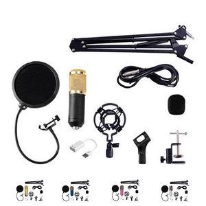 Image 2 - BM800 Condenser Microphone Kit Studio Microphone Vocal Recording KTV Karaoke Clip microfone bm Microphone Mic W/Stand Computer